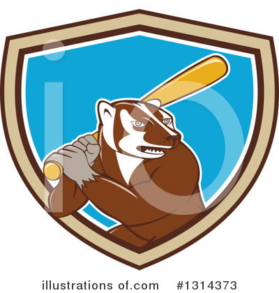 Badger Clipart #1314373 by patrimonio