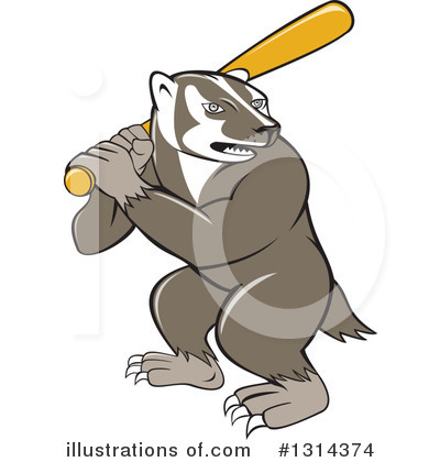 Badger Clipart #1314374 by patrimonio