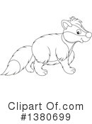 Badger Clipart #1380699 by Alex Bannykh