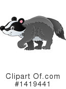 Royalty-Free (RF) Badger Clipart Illustration #1419441