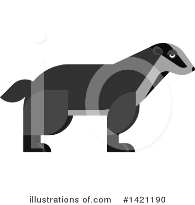 Badger Clipart #1421190 by Vector Tradition SM