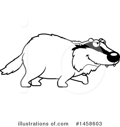 Badger Clipart #1458603 by Cory Thoman