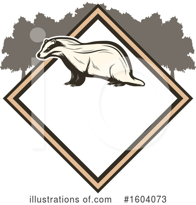 Royalty-Free (RF) Badger Clipart Illustration by Vector Tradition SM - Stock Sample #1604073