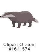 Badger Clipart #1611574 by Vector Tradition SM