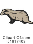 Badger Clipart #1617403 by Vector Tradition SM