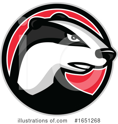 Royalty-Free (RF) Badger Clipart Illustration by patrimonio - Stock Sample #1651268