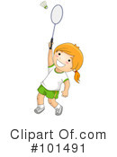 Royalty-Free (RF) badminton Clipart Illustration #101491