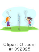 Royalty-Free (RF) Badminton Clipart Illustration #1092925