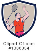 Royalty-Free (RF) Badminton Clipart Illustration #1338334