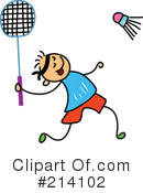 Royalty-Free (RF) Badminton Clipart Illustration #214102