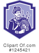 Royalty-Free (RF) Bagpiper Clipart Illustration #1245421