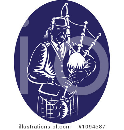 Bagpipes Clipart #1094587 by patrimonio