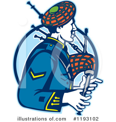 Bagpipes Clipart #1193102 by patrimonio