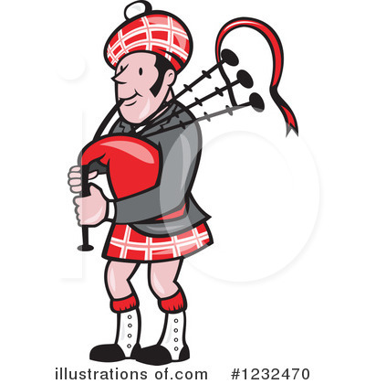 Bagpipes Clipart #1232470 by patrimonio
