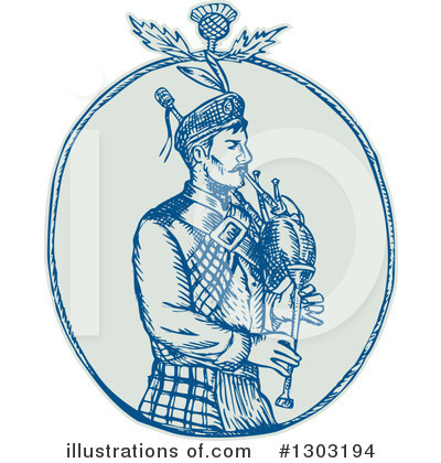 Bagpipes Clipart #1303194 by patrimonio