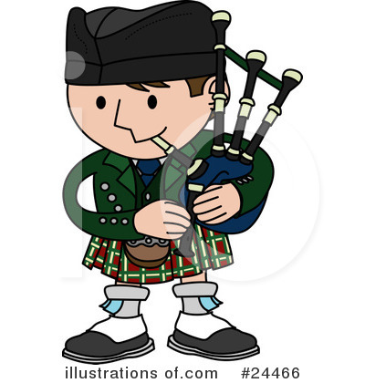 Bagpiper Clipart #24466 by AtStockIllustration