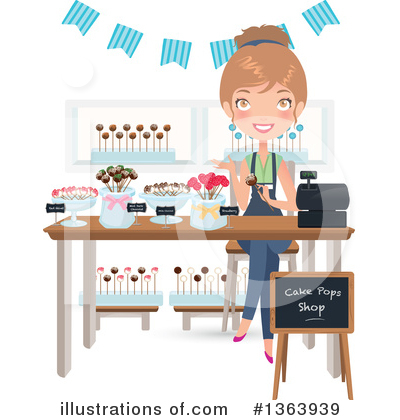 Royalty-Free (RF) Baker Clipart Illustration by Melisende Vector - Stock Sample #1363939