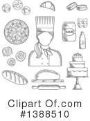 Baker Clipart #1388510 by Vector Tradition SM