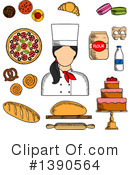 Baker Clipart #1390564 by Vector Tradition SM