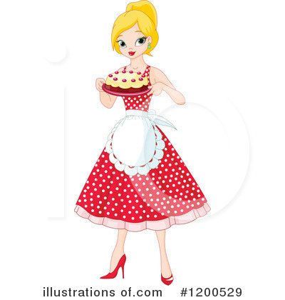 Royalty-Free (RF) Baking Clipart Illustration by Pushkin - Stock Sample #1200529