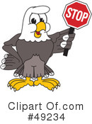 Bald Eagle Character Clipart #49234