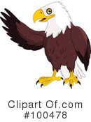 Royalty-Free (RF) Bald Eagle Clipart Illustration #100478