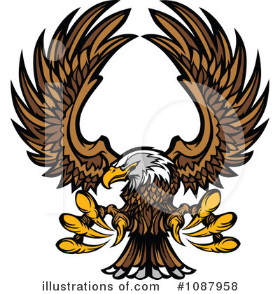 Royalty-Free (RF) Bald Eagle Clipart Illustration by Chromaco - Stock Sample #1087958