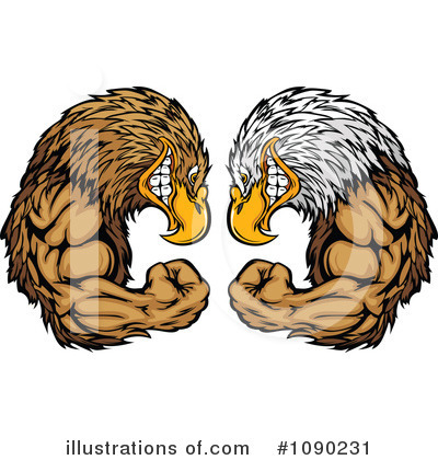 Bald Eagle Clipart #1090231 by Chromaco