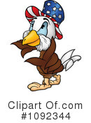 Royalty-Free (RF) Bald Eagle Clipart Illustration #1092344