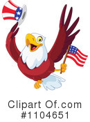 Royalty-Free (RF) Bald Eagle Clipart Illustration #1104651