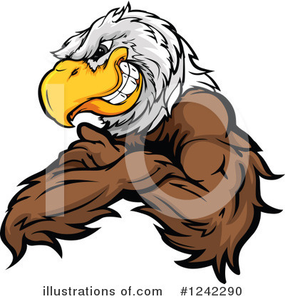 Bald Eagle Clipart #1242290 by Chromaco