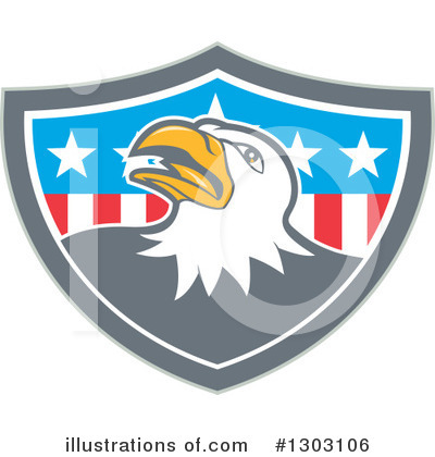 Bald Eagle Clipart #1303106 by patrimonio