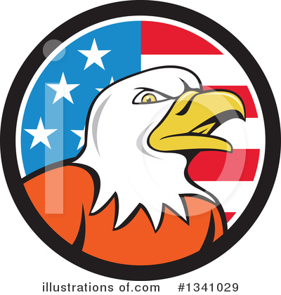 Bald Eagle Clipart #1341029 by patrimonio