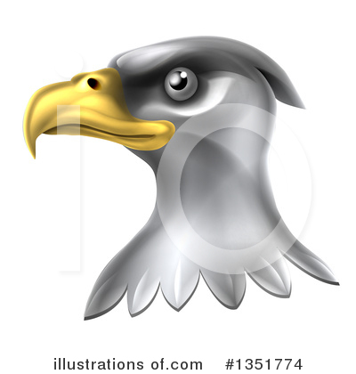 Bald Eagle Clipart #1351774 by AtStockIllustration