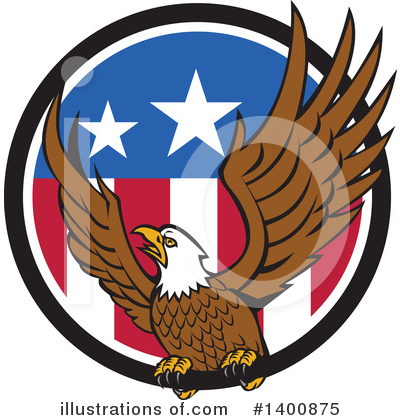 Bald Eagle Clipart #1400875 by patrimonio