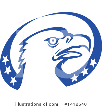 Bald Eagle Clipart #1412540 by patrimonio