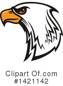 Bald Eagle Clipart #1421142 by Vector Tradition SM