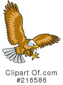 Royalty-Free (RF) Bald Eagle Clipart Illustration #216586