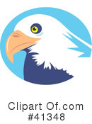 Royalty-Free (RF) Bald Eagle Clipart Illustration #41348