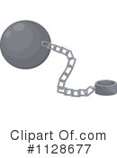 Royalty-Free (RF) Ball And Chain Clipart Illustration #1128677