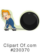 Royalty-Free (RF) Ball And Chain Clipart Illustration #230370
