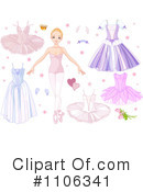 Ballerina Clipart #1106341 by Pushkin