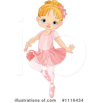 Royalty-Free (RF) Ballerina Clipart Illustration by Pushkin - Stock Sample #1116434