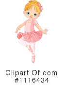 Royalty-Free (RF) Ballerina Clipart Illustration #1116434