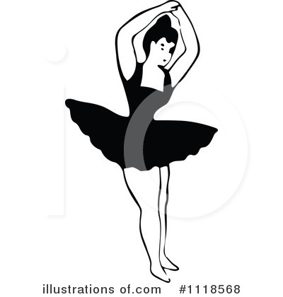 Royalty-Free (RF) Ballerina Clipart Illustration by Prawny Vintage - Stock Sample #1118568