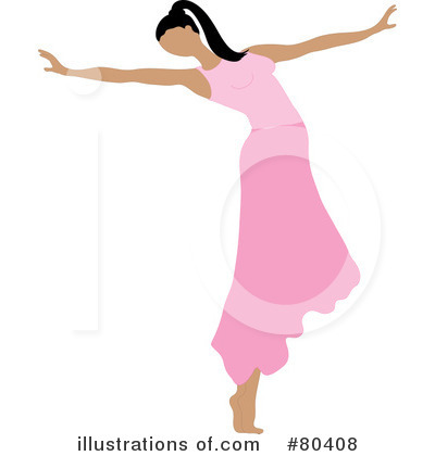 Royalty-Free (RF) Ballerina Clipart Illustration by Pams Clipart - Stock Sample #80408