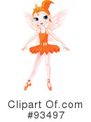 Royalty-Free (RF) Ballerina Clipart Illustration #93497