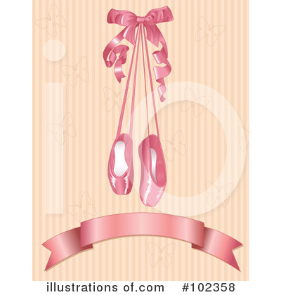 Ballet Slippers Clipart #102358 by Pushkin