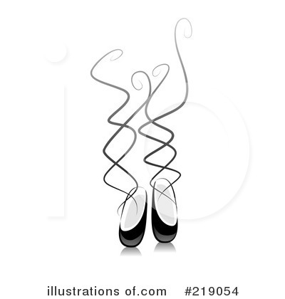 Ballet Slippers Clipart #219054 by BNP Design Studio