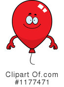 Balloon Clipart #1177471 by Cory Thoman
